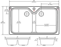 Sink Size Kitchen Kitchen Sink Dimensions Refining Decor