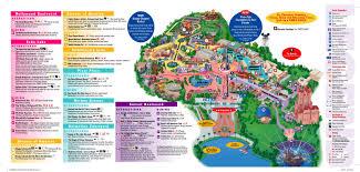 Disney Park Maps April 2016 Disneys Hollywood Studios Guide Map With Backlot Area