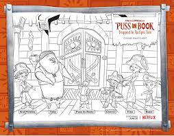 free puss boots coloring sheets streamteam momstart