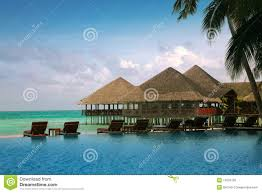 maldives water bungalows royalty free stock image image 15670726