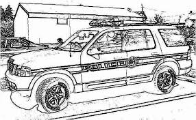 police car colouring pages funycoloring