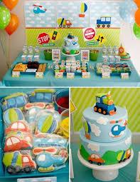 baby boy birthday ideas boy s transportation themed birthday party boy birthday party