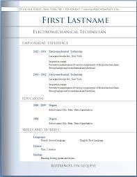 microsoft word resume templates resume templates word document