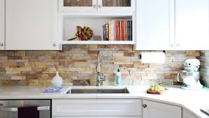 kitchen backsplashes small white kitchen decoration using stone