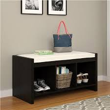 Entryway Storage Bench Ameriwood Furniture Penelope Entryway Storage Bench With Cushion