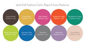 what colors go good with pink designs in paper 2012 fall color report