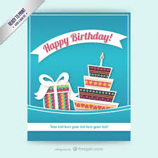 cmyk birthday card template free vector 123freevectors