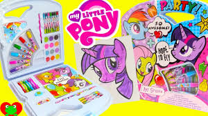 my little pony art kit water colors painting twilight sparkle and