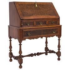 brass key secretary desk 1920s burled slant top desk w key janney s collection
