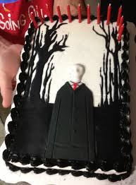 slenderman cake we made for our 12 yr olds b day martinez