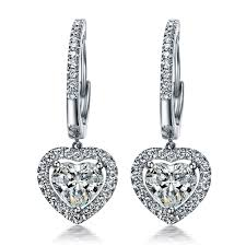 diamond earrings on sale aliexpress buy faultless lovely 1 5ct sona synthetic