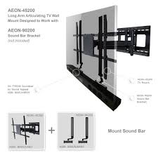 amazon com full motion tv wall mount with 32 inch long extension