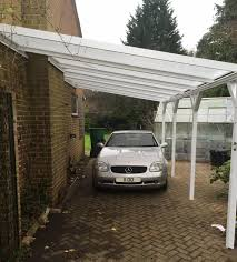 leanto carport with chimney breast lumac canopies