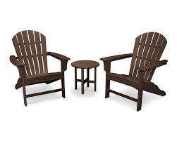 Outdoor Adirondack Chairs Cape Cod 3 Piece Adirondack Set Trex Outdoor Furniture