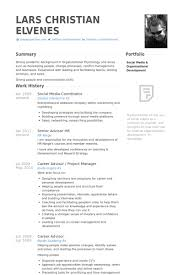 Project Coordinator Resume Samples by Social Media Coordinator Resume Samples Visualcv Resume Samples