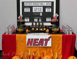 Table Basketball Miami Heat Basketball Birthday