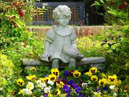 concrete garden statues of children garden statues add interest to