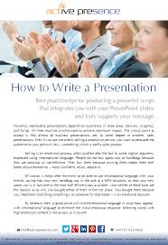 how to write a presentation useful tips for scripting your
