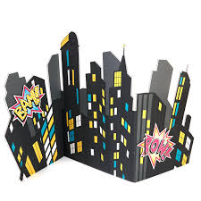 columbia mo halloween city superhero city scape standup 4 u0027 tall birthdayexpress com