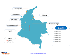 Blank Map Of El Salvador by Free Colombia Powerpoint Map Free Powerpoint Templates