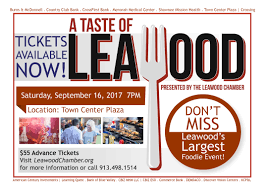 a taste of leawood 2017 tickets sat sep 16 2017 at 7 00 pm