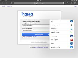 Upload Resume To Indeed Ipad Wanting To U0027attach A File U0027 Pdf But Only Opens My Gallery
