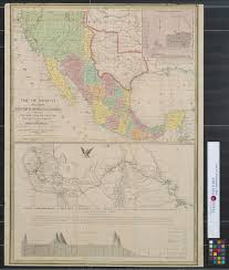 Map Of Monterrey Mexico by Map Of Mexico Including Yucatan And Upper California Exhibiting
