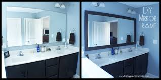 framing bathroom mirror with molding alluring diy bathroom mirror frame with molding the happier