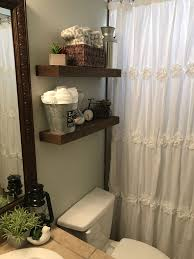 Grey Shabby Chic Curtains by Guest Bathroom Farm House White Blue Green Cool Colors Small