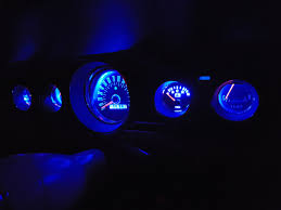 blue led dash lights led bulb dash gauge upgrade one man and his mustang