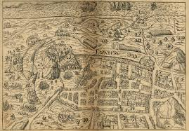 Edinburgh Map Map Of The Month Edinburgh In 1582 U2013 National Library Of Scotland