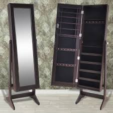 Jewellery Organiser Cabinet 4 Colours Jewellery Mirror Cabinet Storage Box Jewelry Organiser