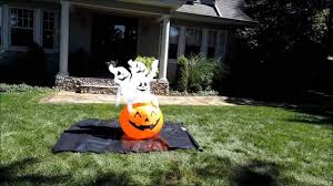 airblown halloween inflatable pumpkin with 3 ghosts 4 ft tall