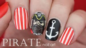 pirate nail art nautical nails youtube