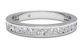 eternity wedding women s channel set diamond eternity wedding ring in 14kt white