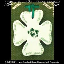 ornament lucky four leaf clover