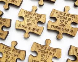 Wedding Favors by Custom Wedding Favors Puzzle Favors Puzzle By Mantamakesltd My