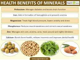 health benefits of minerals organic facts