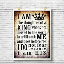 printable home decor daughter of the king inspirational quote printable scripture