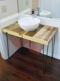 Diy Bathroom Vanities Diy Pallet Wood Vanity 101 Pallets
