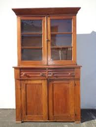 tell city hard rock maple half glass china cabinet hutch 8388