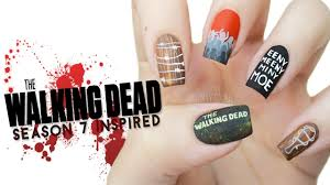 the walking dead season 7 inspired nail art finger fear friday