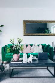 Wohnzimmer Schwarz Grun Unsere Neue Wohnzimmer Einrichtung In Grün Grau Und Rosa
