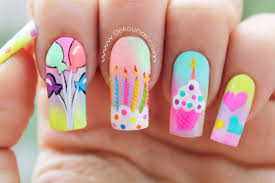 birthday nail designs photos ideas piggieluv birthday nail art