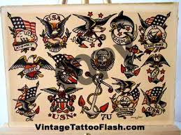 sailor jerry flash sheet 7u vintage flash