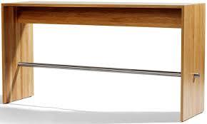 Oak Bar Table Contemporary High Bar Table Oak Lacquered Mdf Rectangular