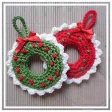wreath tree ornament creative crochet workshop