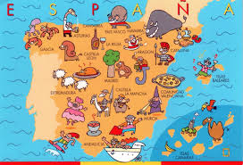 World Continents And Countries Map by Large Fun Map Of Spain Spain Europe Mapsland Maps Of The World