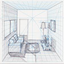 Living Room Design Drawing Room In Perspective Withgrid Drawing With A Perspective Grid