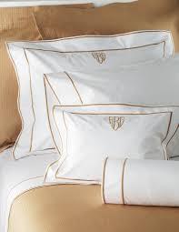 monogrammed bed linens